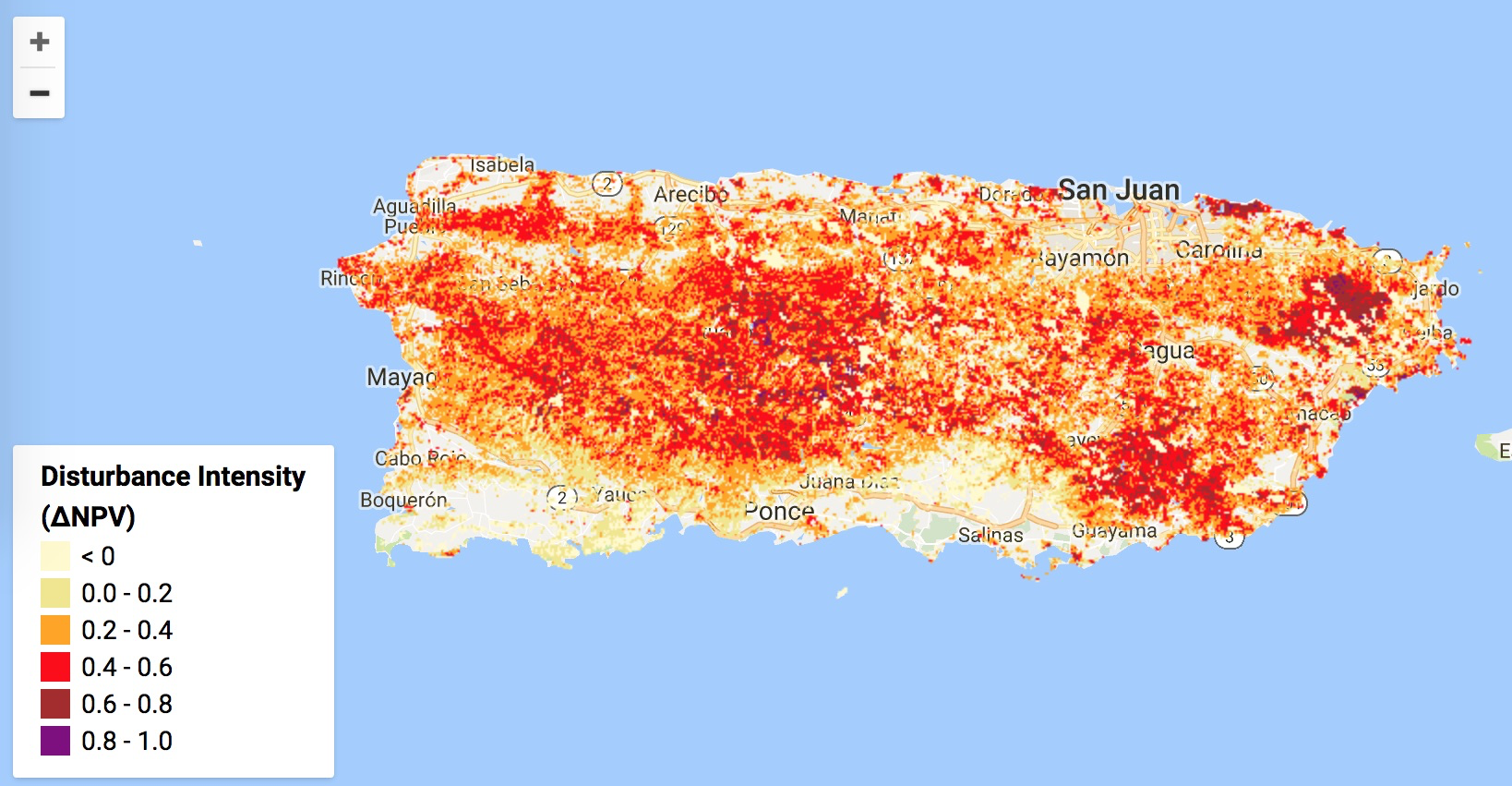 Assessing the Impact of Hurricanes on Puerto Rico\'s Forests ...