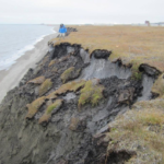 erosion along Alaska's coastline