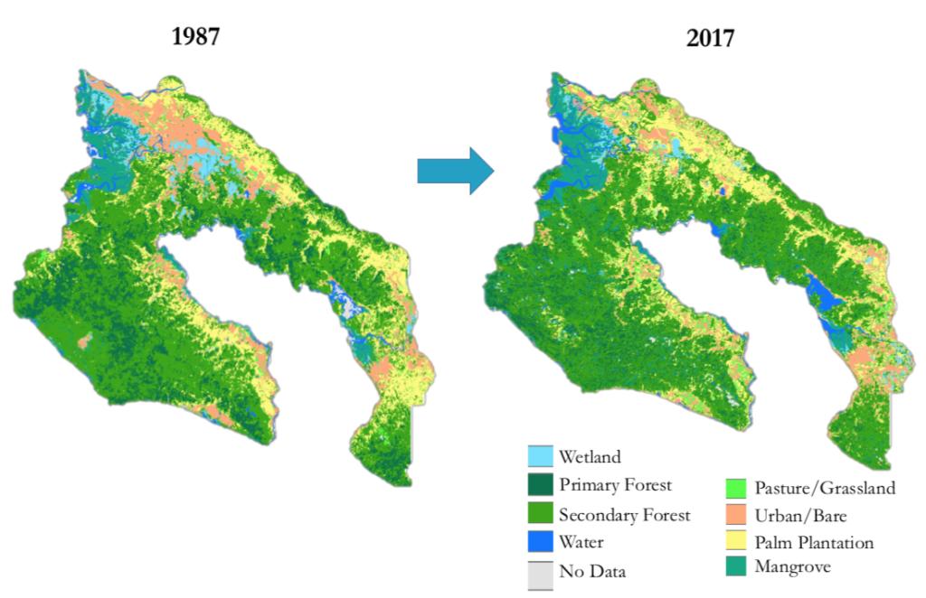 Osa Peninsula land use change