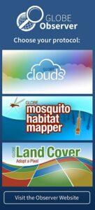 Globe Observer app screen