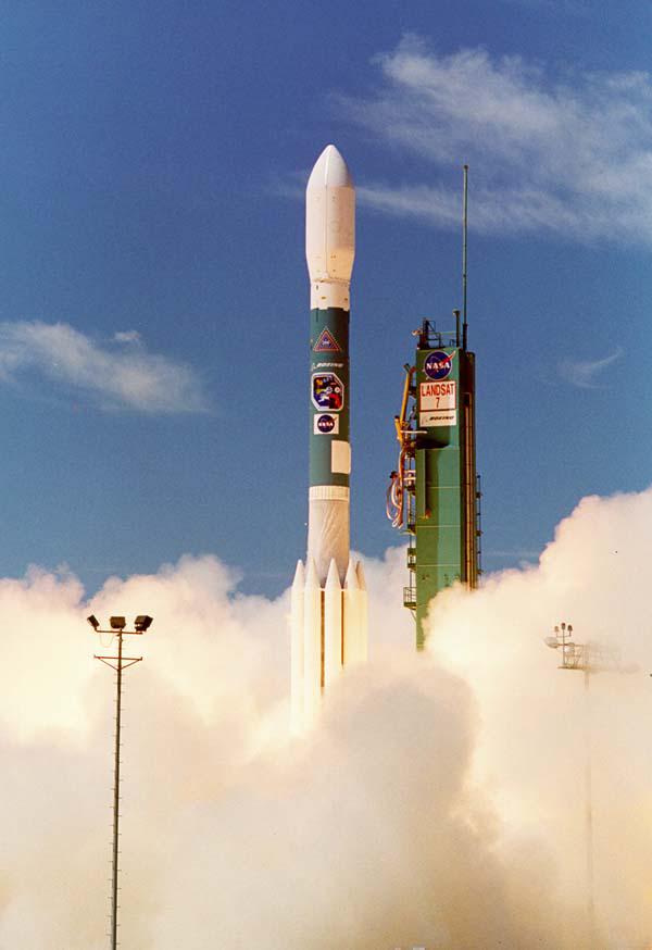 Landsat 7 launch photo