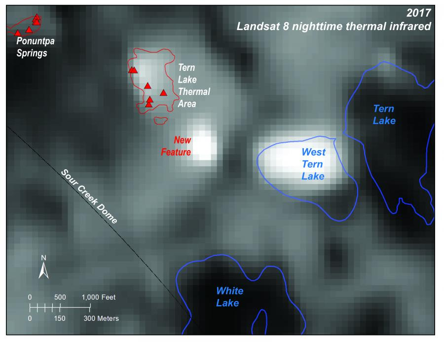 Landsat 8 thermal image of West Tern Lake area