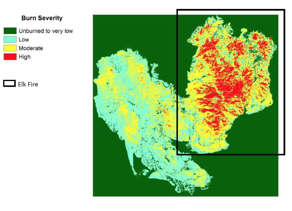 BARC map of Elk Complex Fire