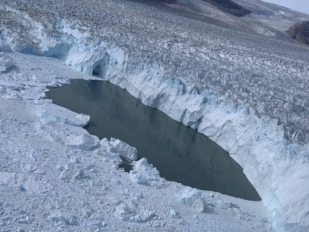 Calving front of Helheim Glacier