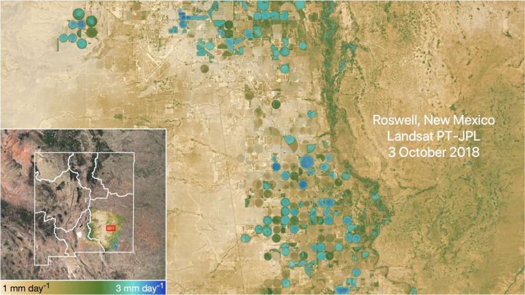 water use map for Roswell, NM