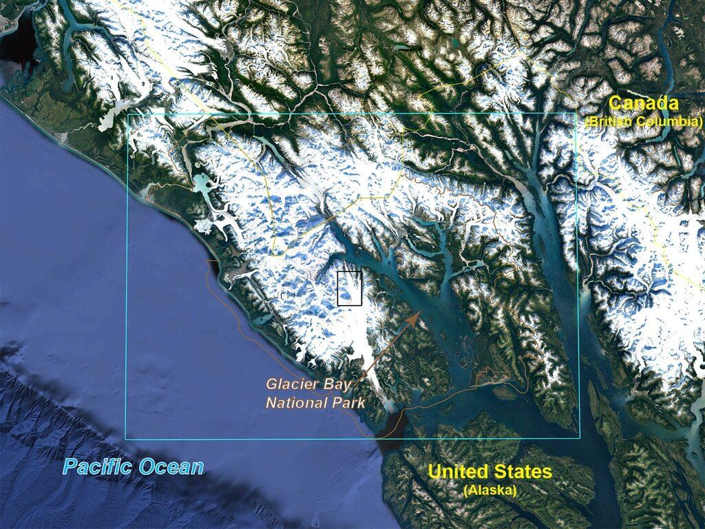 Glacier Bay, locator map