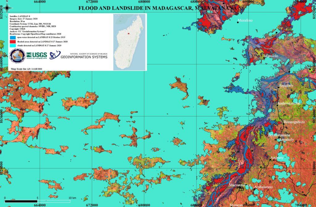 Flood and landslide analysis in Madagascar