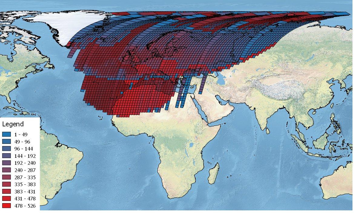 Landsat data collected over ESA's International Ground Stations