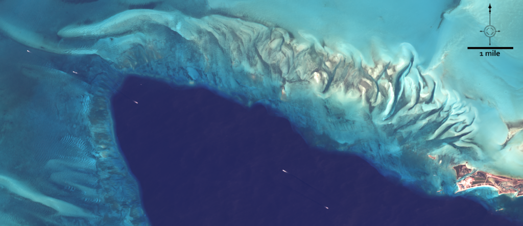 Landsat 8 image of Chub Cay in the Berry Islands