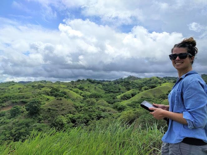 Cristina Barber in the field in Panama